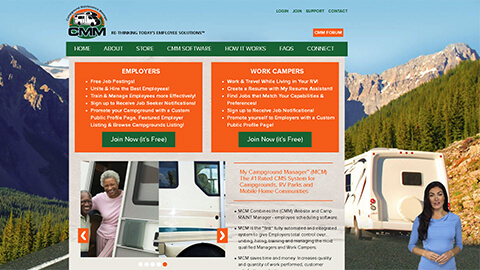 Website Spokesperson Example - Campground Maintanence Manager