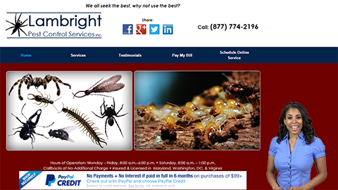 Walkon Spokesperson Example - Lampbright Pest Control