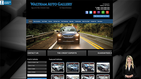 Walkon Spokesperson Example - Waltham Auto Gallery