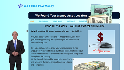 Website Spokesperson Example - Found Your Money
